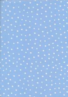 John Louden Organic Cotton Prints - Newborn Baby Range Spot JL CO 386 Col Blue