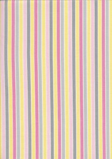John Louden Organic Cotton Prints - Newborn Baby Range Stripe JL CO 387 Col Pink