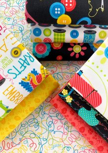 Kanvas Studio - Sew Excited 9 x Fat 1/4 Pack 2