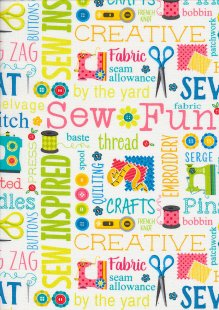 Kanvas Studio - Sew Excited Sew Wordy 7824 col 09