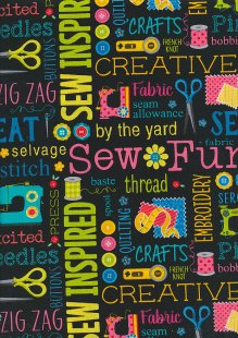 Kanvas Studio - Sew Excited Sew Wordy 7824 col 12