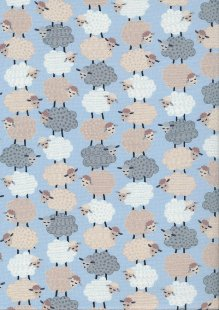 Kanvas Studio - Sweet Dreams Sweet Stacked Sheep Blue 7787 Col 50