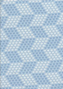 Kanvas Studio - Sweet Dreams Little Sheep Geo Blue/White 7784 Col 5