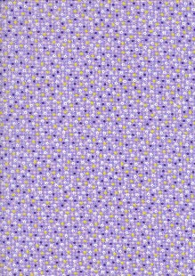 Kingfisher Fabrics - Vintage Miniatures purple 49482