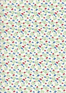 Kingfisher Fabrics - Vintage Miniatures red/navy 49478