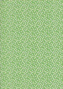 Kingfisher Fabrics - Vintage Miniatures green 49479
