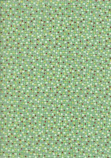 Kingfisher Fabrics - Vintage Miniatures green 49482