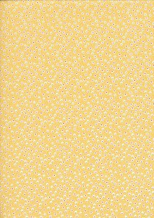 Kingfisher Fabrics - Vintage Miniatures bright yellow 49479