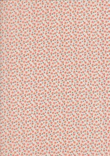 Kingfisher Fabrics - Vintage Miniatures peach 49480