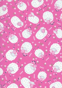 Kingfisher Fabrics - The Kids Are Alright Pink 49707