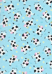 Kingfisher Fabrics - The Kids Are Alright Blue 49705