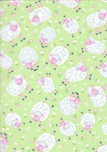 Kingfisher Fabrics - The Kids Are Alright Green 49707