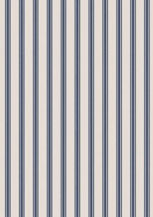 Lewis & Irene - A Countryside Winter C18.1 - Navy Stripe