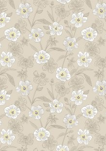 Lewis & Irene - Botanic Garden A455.1 Rambling floral on dark cream