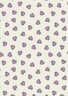 Lewis & Irene - Britannia A345.1 Union Jack hearts on cream