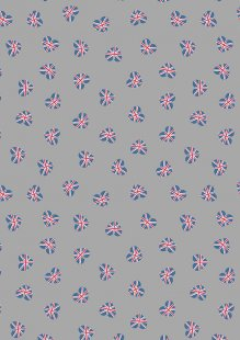 Lewis & Irene - Britannia A345.2 Union Jack hearts on grey