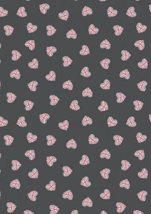 Lewis & Irene - Britannia A345.3 Union Jack hearts on black