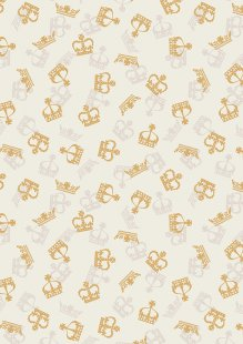 Lewis & Irene - Britannia A346.1 Metallic gold crowns on cream
