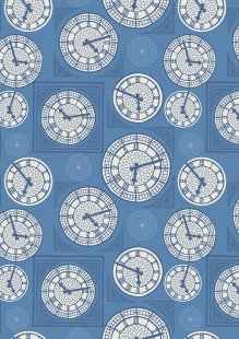 Lewis & Irene - Britannia A348.2 Clock face on blue
