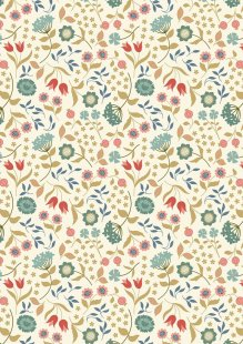 Lewis & Irene - Chieveley A241.1 - Country House Floral On Cream