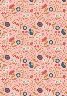 Lewis & Irene - Chieveley A241.2 - Country House Floral On Pink