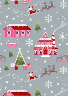 Lewis & Irene - Christmas Glow C47.1 Glow North Pole pink/grey