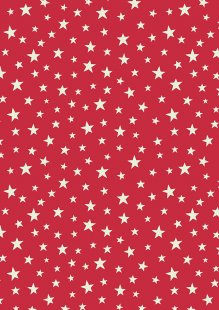 Lewis & Irene - Christmas Glow C48.2 Glow stars on red