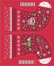 Lewis & Irene - Christmas Glow C51.3 Red stocking