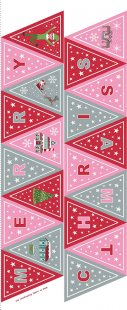 Lewis & Irene - Christmas Glow C52.2 Pink/red bunting