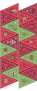 Lewis & Irene - Christmas Glow C52.3 Green/red bunting