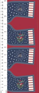 Lewis & Irene - Christmas Panels C21.3 - Midnight Countryside Stockings