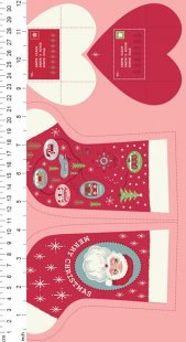 Lewis & Irene - Christmas Panels C22.3 - Red North Pole Stockings