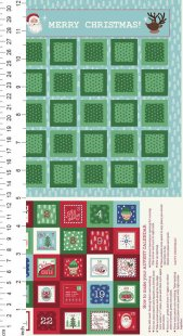 Lewis & Irene - Christmas Panels C24.1 - North Pole Advent Calendar On Ice Blue