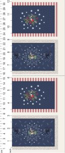 Lewis & Irene - Christmas Panels C25.3 - Midnight Countryside Placemats