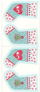 Lewis & Irene - Christmas Panels C31.1 - Hygge stockings icy blue