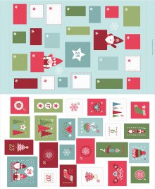 Lewis & Irene - Christmas Panels C32.1 - Hygge Christmas Advent Calender Icy blue