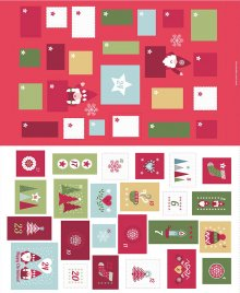 Lewis & Irene - Christmas Panels C32.2 - Hygge Christmas Advent Calender red