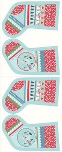 Lewis & Irene - Christmas Panels C39.1 - Snow day stockings icy blue