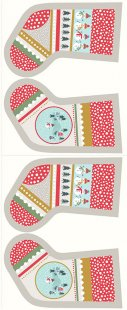 Lewis & Irene - Christmas Panels C39.2 - Snow day stockings cream