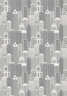 Lewis & Irene - City Nights A291.1 City buildings silver