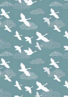 Lewis & Irene - Down By The River A221.2 - Swans In Flight On Teal