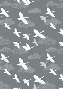 Lewis & Irene - Down By The River A221.3 - Swans In Flight On Grey
