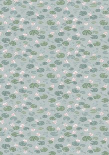 Lewis & Irene - Down By The River A223.1 - Lily Pads On Light Blue