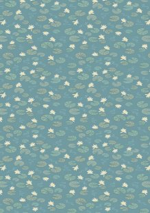 Lewis & Irene - Down By The River A223.2 - Lily Pads On Teal