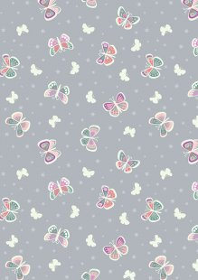 Lewis & Irene - Fairy Nights A406.1 - Butterfly glow on light grey