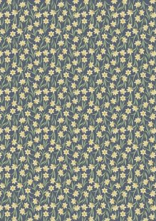 Lewis & Irene - Flo's Little Florals FLO3.4 - Daffodils On Dark