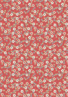 Lewis & Irene - Flo's Little Florals FLO5.3 - Ditzy On Red