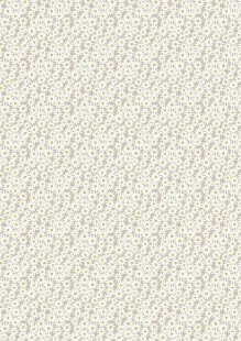 Lewis & Irene - Flo's Little Florals FLO6.1 - Daisies On Grey