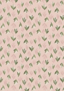 Lewis & Irene - Flo's Wild Flowers FLO11.1 - Lily Of The Valley On Blush Pink