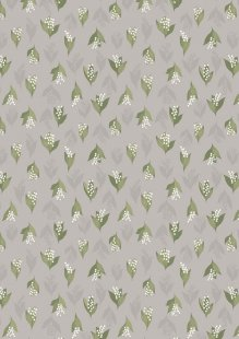 Lewis & Irene - Flo's Wild Flowers FLO11.4 - Lily Of The Valley On Dove Grey